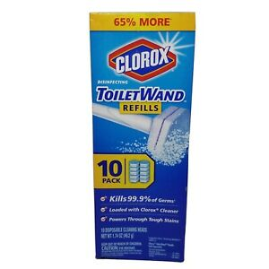 10-Pack Clorox Toilet Wand Disposable Refills Cleaning Heads Disinfecting Sealed