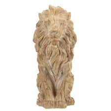 29cm Wooden Wood Effect Lion Ornament Statue Sculpture Figurine Home Decor