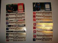 2003 Topps Traded Future Phenoms COMPLETE 15 Card Game-Used Bat/Jersey Set