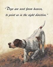 Religious Inspirational Poster Art Print Veterinarian Pointer Dog Treats RELG33