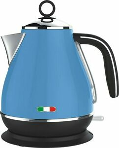 Vintage Electric Kettle Blue 1.7L Stainless Steel Auto OFF 2200W not Delonghi