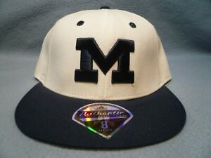 Adidas Michigan Wolverines On Field Sz 8 BRAND NEW Fitted hat cap 2-Tone UM