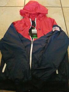 Umbro Windbreaker Track Jacket Large Red White Blue USA