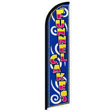 Funnel Cakes Windless Swooper Advertising Feather Flag Food Service Concessions