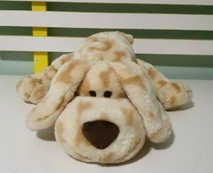 GUND Plush BONZ Cream Brown Bones Puppy Dog 13019 Stuffed Animal