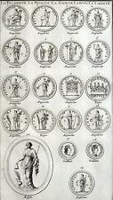 Fertilità Di Medaglie Bliss Allegria Libertà Montfaucon Antico Roma Gr