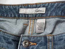 Jeans Pants Chicos Platinum 1 Denim Lighty Destressed Medium Wash Mint Condition