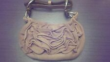 Tom Ford YSL Saint Laurent Nadja Flower Rose Suede Pink Handbag Evening Purse