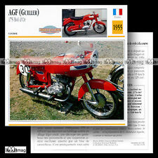 #035.19 AFG GUILLER 175 BOL D'OR Modèle 1955 Fiche Moto Motorcycle Card