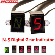 Universal Motorcycle Bike Digital Gear Indicator LED Display Shift Level Sensor