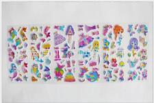 3pc Foam Stickers lot  Classic cartoon Mermaid Kids favor party gift Paper Craft