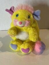 "Vintage 1985 Popples Potato Chip Yellow Plush Stuffed Figure Mattel 7"""