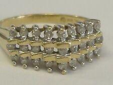 VINTAGE  10K DIAMOND  COCTAIL  RING .14CT TW  SIZE 7