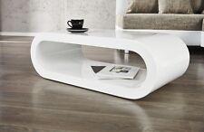 Table basse d'Appoint Rétro Cube haute brillance Blanc salon design NEUF