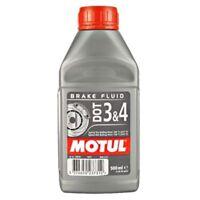 MOTUL DOT 3 4 Olio Liquido freni Auto moto 500 ml 100% Sintetico Brake Fluid