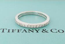 Diamond Full Circle Channel Eternity Ring Tiffany & Co 0.5 ct Platinum Round