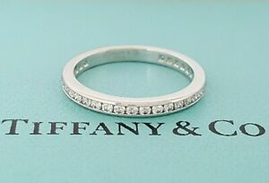 Tiffany & Co 0.5 ct Platinum Round Diamond Full Circle Channel Eternity Ring