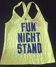 New~Victoria's Secret VS Fun Night Stand Graphic Neon Sleep Tank Top Medium