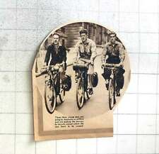 1937 Three Young Men Cycling To Australia To Settle