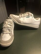 Ashworth Cardiff White Green Leather Spikeless Golf Shoe Men US SZ 11.5
