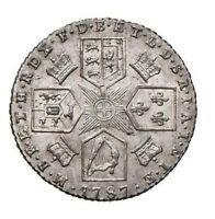 s654) GRAN BRETAGNA - Giorgio III (1760-1820) - 6 Pence 1787