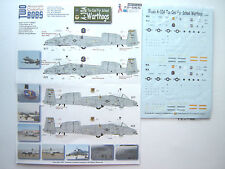 "A-10A WARTHOG ""2 USAF/TOO COOL FOR SCHOOL"" TWOBOBS DECALS 1/72"