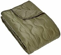 Army Style Poncho Liner Quilted Travel Car Blanket Sleeping Bag Ripstop Olive