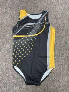 Boys Gymnastics Leotard Brand New Black And Yellow Size 32