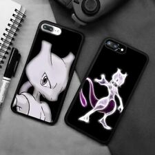 Mewtwo Pokemon Mew Silicone Phone Case Cover For iPhone Samsung Galaxy