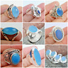CHALCEDONY 925 SOLID STERLING SILVER HANDMADE JEWELRY RINGS IN ALL SIZE & SHAPE