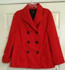 NWT Women's RAMPAGE Long Sleeve Wool Coat Lined Sz 1X VERY NICE!!