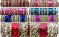 Indian Traditional Bollywood Wedding Bridal Ethnic Fashion Jewelry Bangles Set