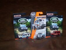 MATCHBOX - LOT OF 3 -  2 LAND ROVER - NINETY- DISCOVERY - 1 METER MADE - NEW