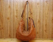 Real leather retro Large sheepskin handmade Shopper Shoulder Bag purse 609