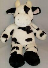 "Build A Bear Workshop Cow 19"" Plush Black White Holstein Babw"