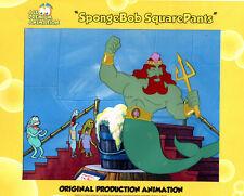 """King Neptune """"Blow Out Sale ! """"The Very Best""""! Spongebob Prod Cel #6254"""
