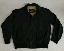 Paul & Shark Yachting Black Button Up Harrington Bomber Jacket Sz L
