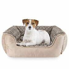 Rectangle Dog Bed for Large Medium Small Dogs Machine 25x21x8 Inch (Pack of 1)