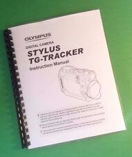 LASER Printed Olympus TG-TRACKER Camera 79 Page Owners Manual Guide
