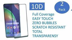 2X 10D Für Samsung A70 SM-A705F Full Screen Panzerfolie Schutzglas 9H NEU