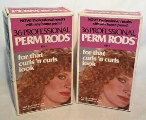 NEW Professional Perm Rods Kit # 1 Salon Curls 'N Curls Look 36 Count x 2 Boxes
