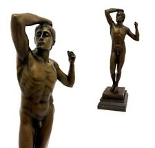 Bronzefigur Männlicher Akt Das Eherne Zeitalter Vintage Signiert Rodin 45 cm