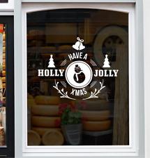 Jolly xmas Window Sticker Merry Christmas Shop Home Decor Decal