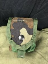 US Military Woodland Camo Multipurpose Grenade Pouch EUC