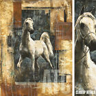 "32W""x42H"" ARCHITECTURAL HORSE by MARTA WILEY - STALLION COLT MARE BRONCO CANVAS"