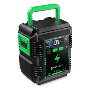 YUNLIGHTS 80W Portable Power Station Universal 110V Power Supply Power Outage Em