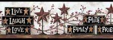 Live Laugh Love Blocks & Country Star Faith Family Friends Wallpaper Border York