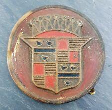 HTF 1940's Cadillac Fender Skirt El Dorado? Car Emblem/Badge Brass Era Crest