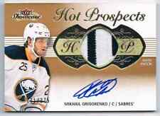 2013-14 FLEER SHOWCASE RC AUTO PATCH MIKHAIL GRIGORENKO ROOKIE AUTO AUTO PATCH 2