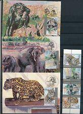 ISRAEL 1992 WILD ANIMALS SAFARI 4 MAXIMUM CARDS + FDC's + STAMPS MNH
